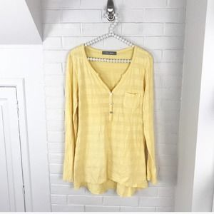 {Coin 1804} Yellow Striped Long Sleeve Top